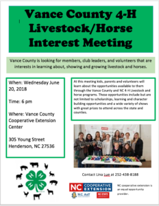 Cover photo for Livestock and Horse Club Interest Meeting