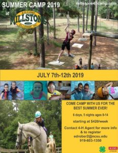 Cover photo for 4-H Summer Camp at Millstone
