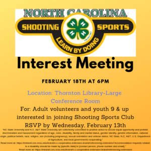 Cover photo for *Location Change*4-H Shooting Sports Interest Meeting