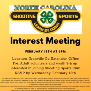 Cover photo for 4-H Shooting Sports Interest Meeting