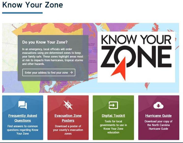 Know Your Zone Graphic