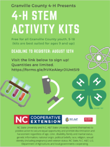 Cover photo for Granville County 4-H Offering FREE STEM Kits