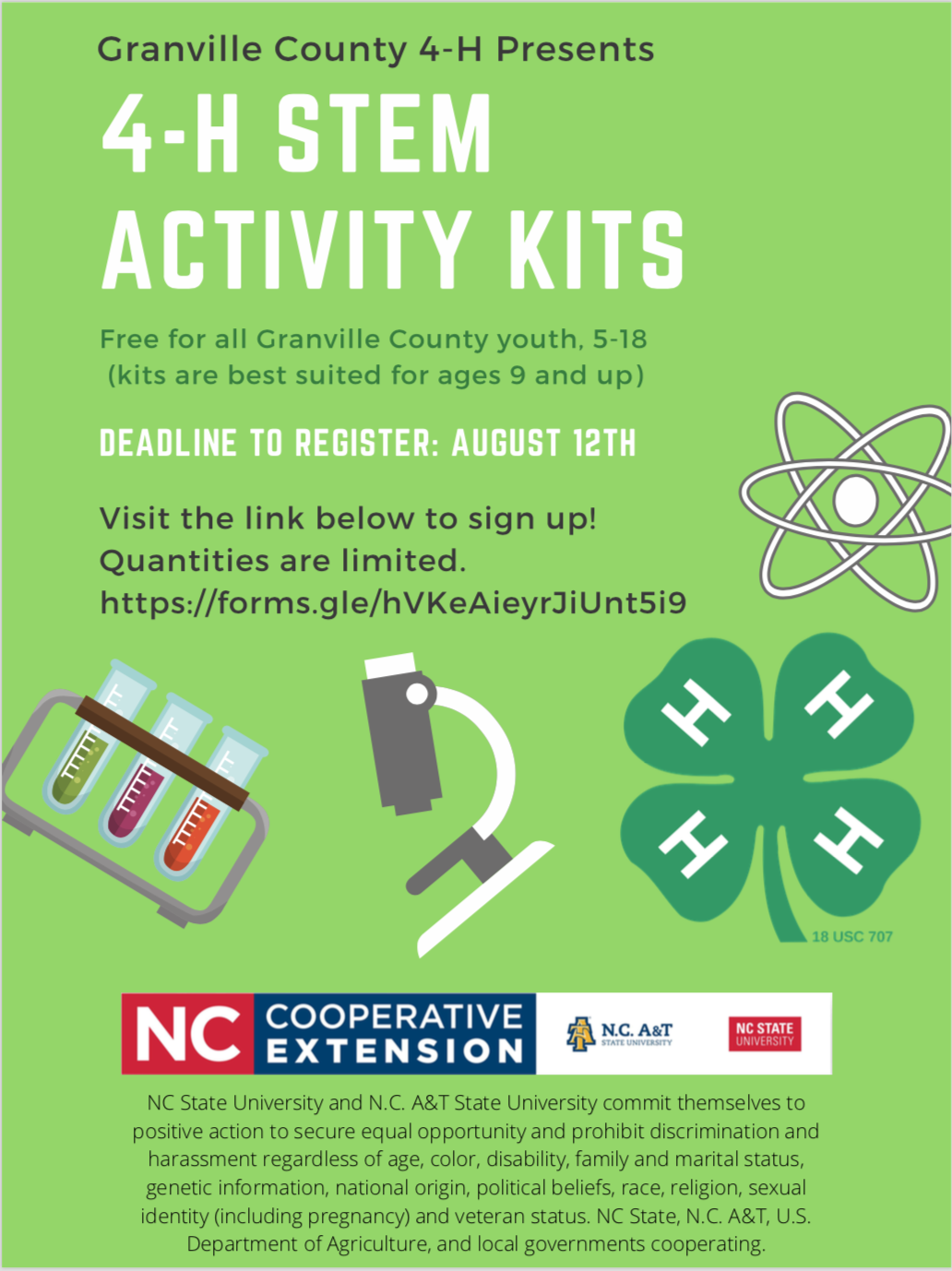 4-H STEM activity kits